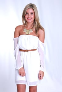 Image of SUNDAY LOVIN' DRESS - WHITE 