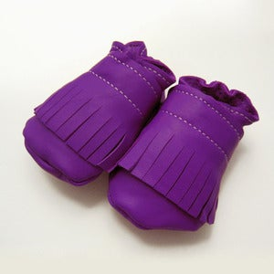 Image of Purple Fringe Baby Booties