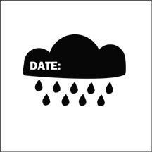Image of rain cloud date stamp
