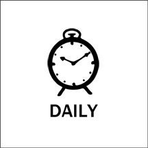 Image of daily alarm stamp