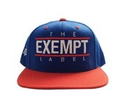 Image of The Exempt Label Snap Back in Blue/Orange
