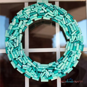 "Image of 16"" Aqua & Turquoise Wreath"