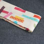 Image of messenger bag sash - washi tape