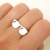 Image of Fashionable Sun Glasses - Handmade Sterling Silver Ring