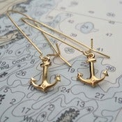 Image of Tiny Anchor Earrings