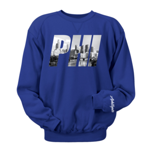 Image of PHI Photo Crewneck (Royal)