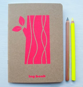 Image of logbook in neon pink