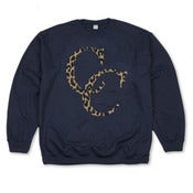 Original Leopard Sweater in Navy
