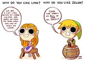 Image of LOZ: Why do you like Link/Zelda? (7.75&quot;x5.5&quot;)
