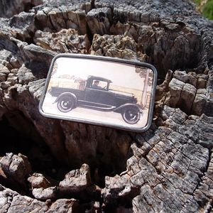 Image of Leather Belt Buckle - Pick Up