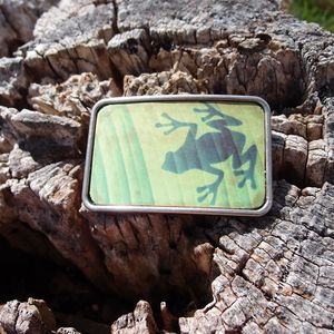 Image of Leather Belt Buckle - Frog