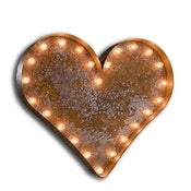 Image of NEW! Rustic Marquee Lights~Symbols