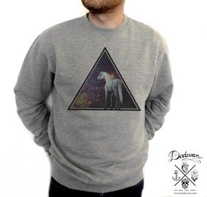 Image of Sweatshirt homme Unicorn across the Universe
