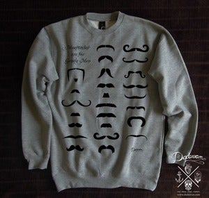 Image of Sweatshirt homme Moustaches are for Gentle Men