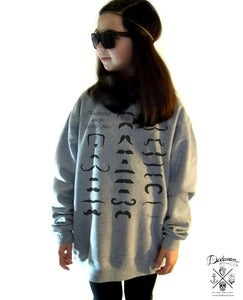 Image of Sweatshirt femme oversized Moustaches by Dadawan