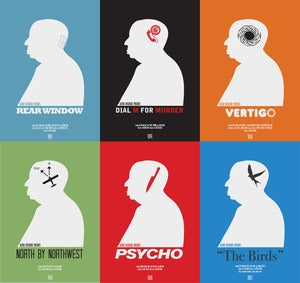 Image of Full Set Of 6 Hitchcock Prints