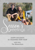 Image of Seasonal Silver Holiday Card