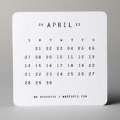 Image of 2013 Letterpress Calendar