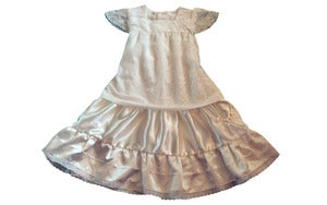 Image of Cream special occasion dress 5 to 6 years
