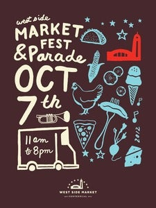 Image of West Side Market Street Festival and Parade Poster (PICK UP ONLY)