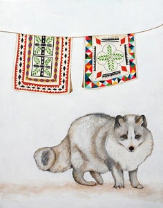 Image of Arctic Fox Painting