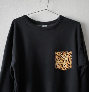 Image of FRENCH FRIES POCKET BLACK SWEATSHIRT