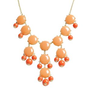 Image of Crew Bubble Statement Necklace:: Coral