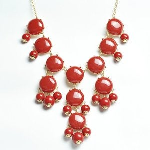 Image of Crew Bubble Statement Necklace:: Red