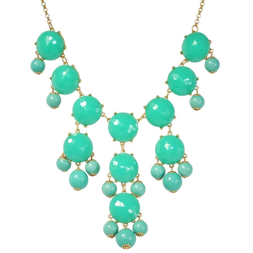 Image of Crew Bubble Statement Necklace:: Turquoise 