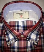 Image of Admirals Shirt - Red Plaid Oxford