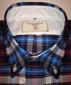 Image of Admirals Shirt - Blue Plaid Oxford