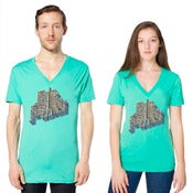 Image of V-Neck Aqua/Teal Shirt