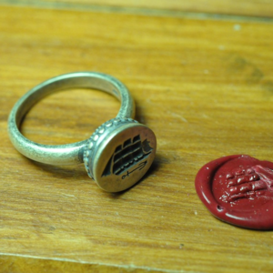 Image of 17th Century Ship Wax Seal Insignia Ring