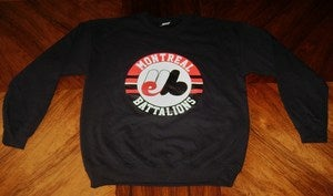 "Image of ""Montreal Battalions"" Black Crewneck"