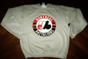 Image of &quot;Montreal Battalions&quot; Grey Crewneck
