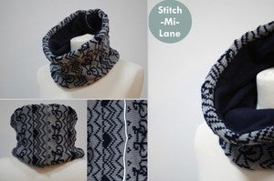 Image of Commuter Cowl - Grey and Navy