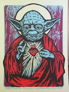 Image of HOLY MASTER three color screenprint