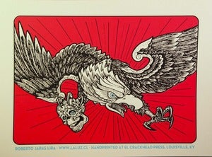 Image of EAGLE three color screenprint