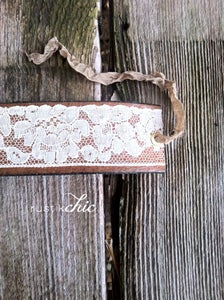 Image of Antique Lace Ribbon Leather Cuff