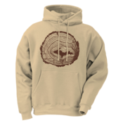 Tree Rings - Tan - Hoodie