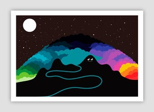 Image of Cloud Mountain Giclée print on 310gsm Somerset Velvet Paper