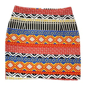 Image of Wren. - Tribal Tailored Bodycon Skirt
