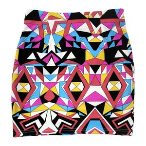 Image of Wren. - Geometric Tailored Bodycon Skirt (Pink)