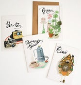Image of &quot;CHE DICI?&quot; card set | 4pcs