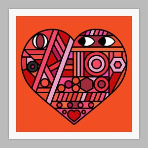 Image of Street Heart Giclée print on 310gsm Somerset Velvet Paper