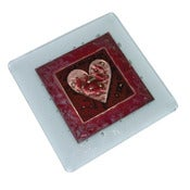 Image of Designer Red Heart Coasters