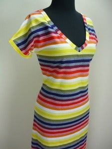 Image of 70s striped T-shirt maxi dress