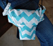 Image of Aqua Chevron {*WaterProof} Rain Slicky