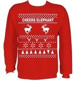 Image of LIMITED EDITION Unisex Cheers Elephant 'Christmas Sweater'