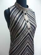Image of 60s mod chevron stripe shift dress